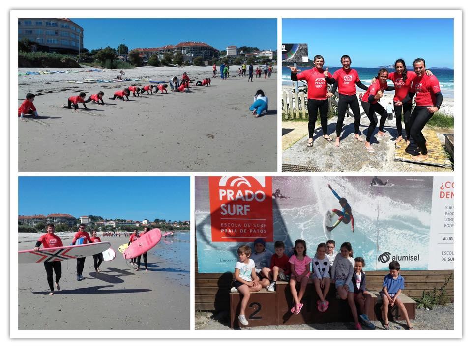 Curso de surf-kayak en las Rías Baixas